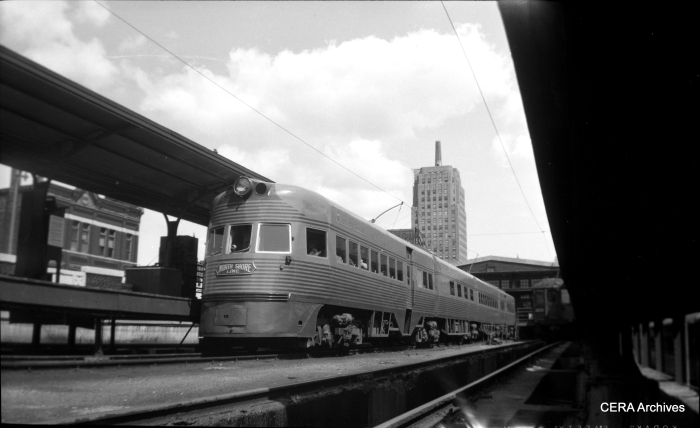 Electroliner at the North Shore Line's Milwaukee terminal.