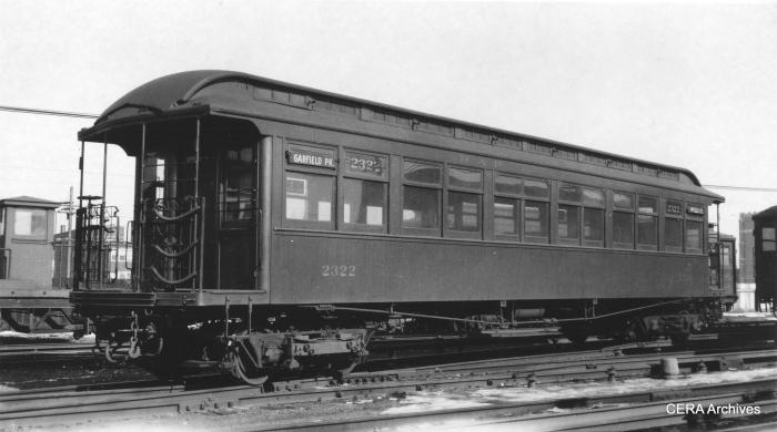 CRT 2322 in a late 1930s photo by early CERA member La Mar M. Kelley.