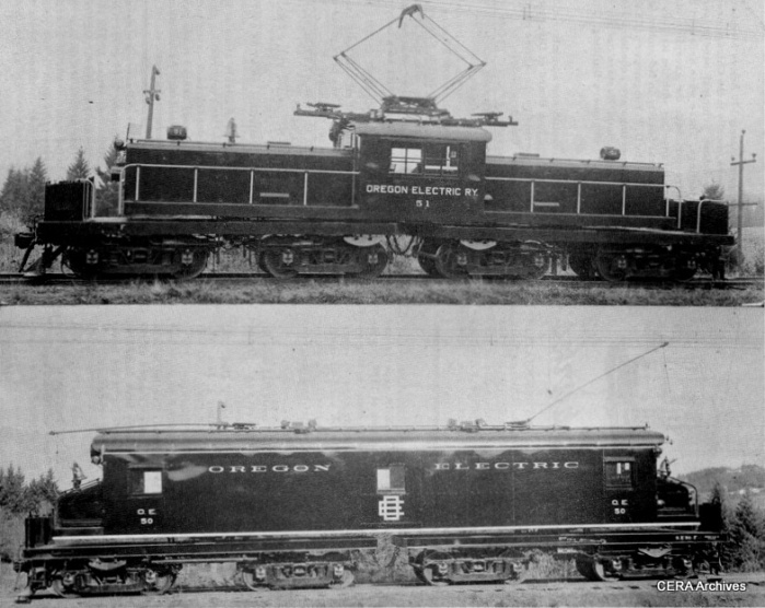 The two freight locos as they looked on the Oregon Electric. (From CERA B-77)