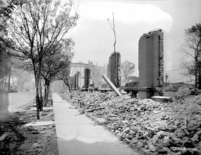 Expressway demolition in Chicago. (Photographer unknown)