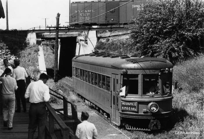 This photo was likely taken on August 20, 1938, during a CERA fantrip that used Indiana Railroad car 58. (Photographer unknown)