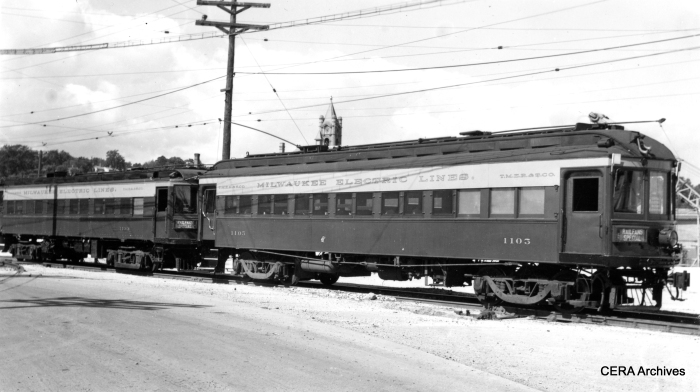 This picture is from one of three fantrips CERA held on the Milwaukee Electric during 1939-40. (Photographer unknown)