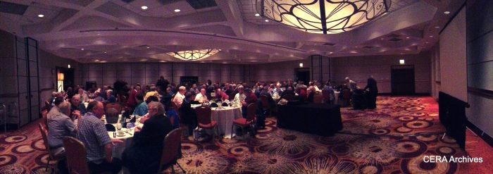 A panoramic view of our banquet hall. (Photo by Diana Koester)