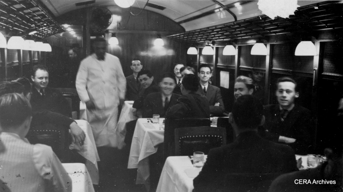 CNS&M Dining Car 409 - Uptown, Wilson Ave. station, March 17, 1939. (Unknown Photographer, John Nicholson Collection)