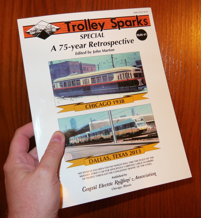 Our latest book, Trolley Sparks Special #1, which is now out of print.