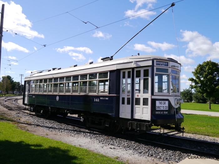 C&WT 141 is the last survivor of that street railway. (Photo by David Sadowski)