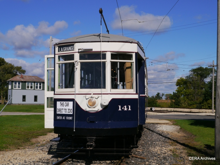 Chicago and West Towns car 141 has been restored. (Photo by David Sadowski)