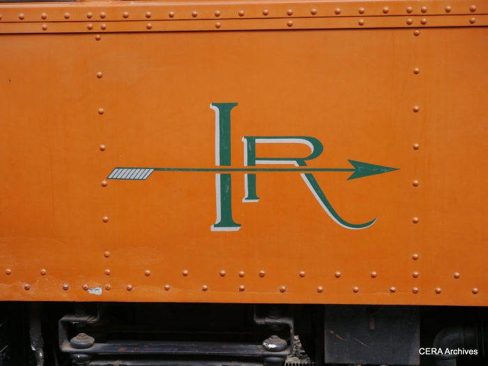 The elegant Indiana Railroad logo. (Photo by David Sadowski)