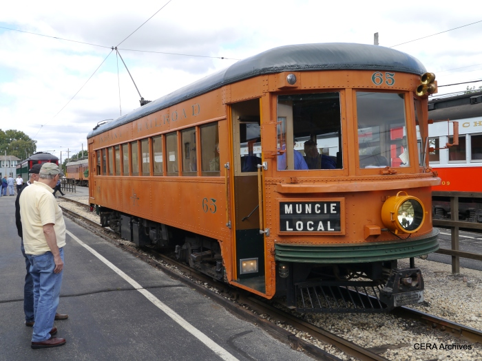 Indiana Railroad car 65, IRM's first acquisition, was also out that day. (Photo by David Sadowski)