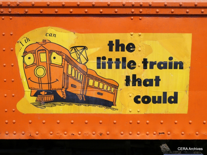 These signs were a familiar sight on South Shore trains in the 1970s and 80s. (Photo by David Sadowski)