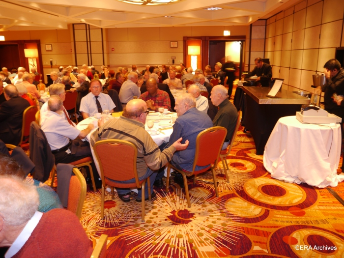 A large and enthusiastic crowd attended CERA's 75th Anniversary Banquet and Program on September 21, 2013. (Photo by David Sadowski)