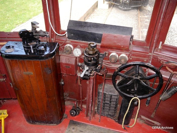 The controls of car 304. (Photo by David Sadowski)