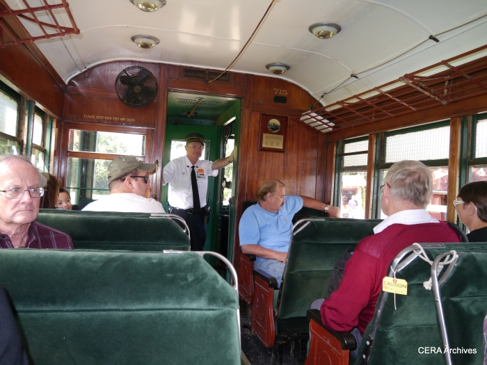 The interior of CNS&M 715. (Photo by David Sadowski)