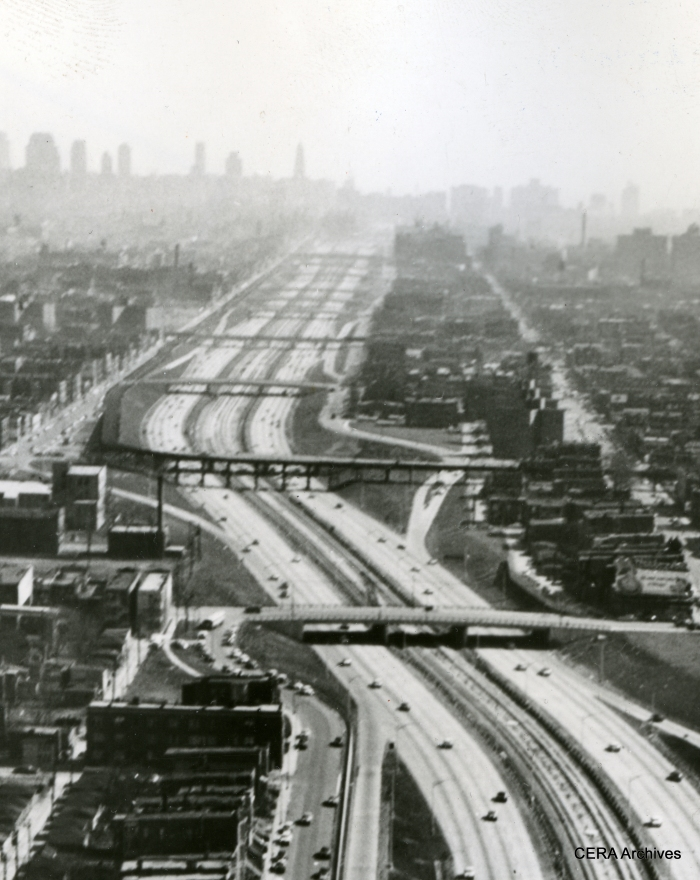 A close-up of the same January 1958 scene. (Photographer unknown)