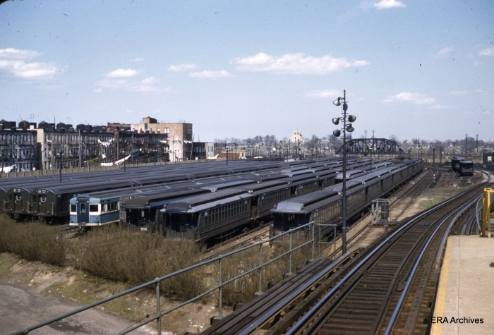 Fresh Pond Yard, April 22, 1956. (Photographer unknown)