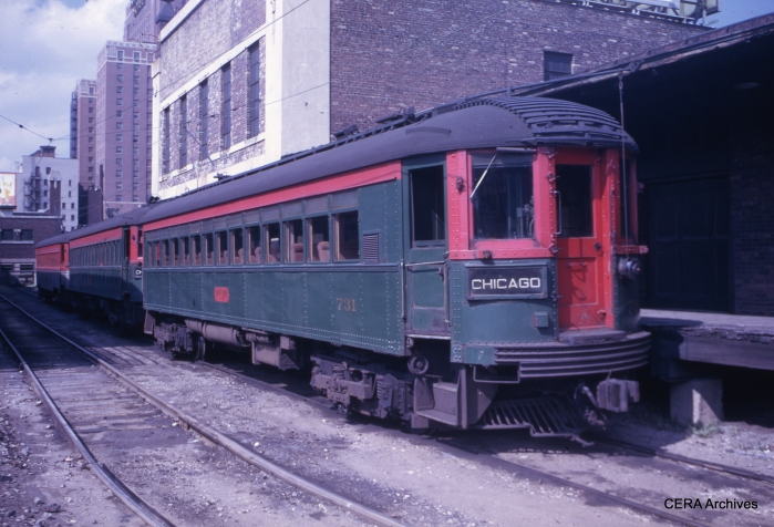 CNS&M 731 in Milwaukee in August 1961. (Photographer unknown)