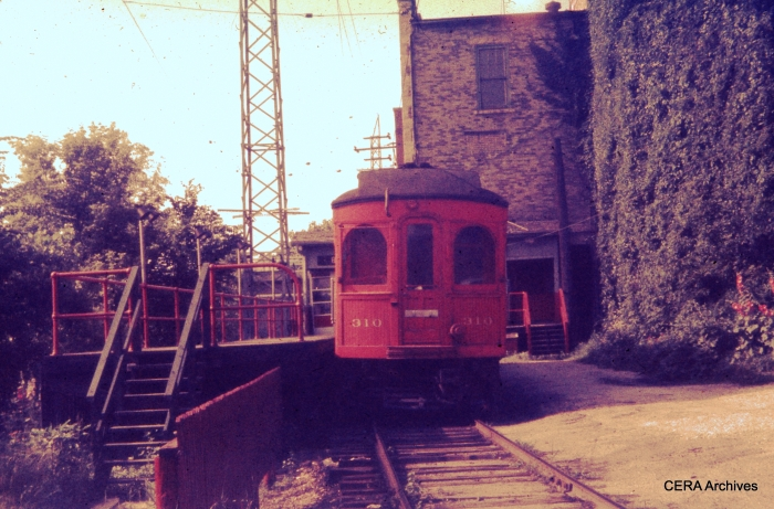 Mystery Photo #3 - CA&E 310 on July 1, 1957. Where are we? (Charles L. Tauscher Collection)