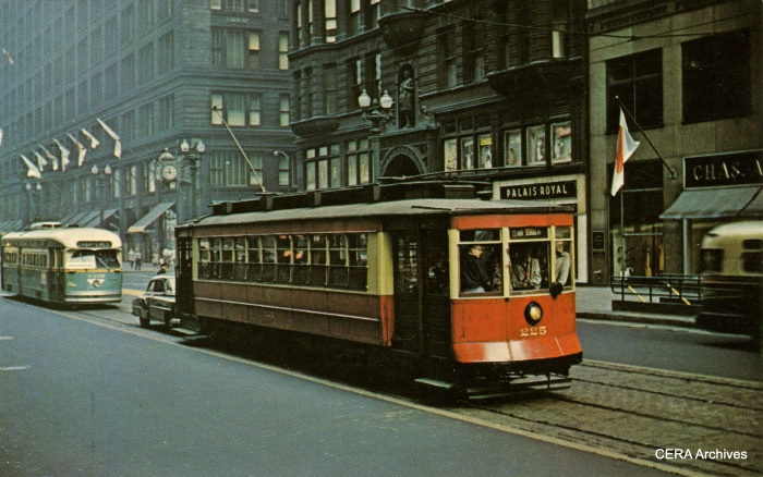 Car 225 on a fantrip (probably February 10, 1957). (Photographer unknown)