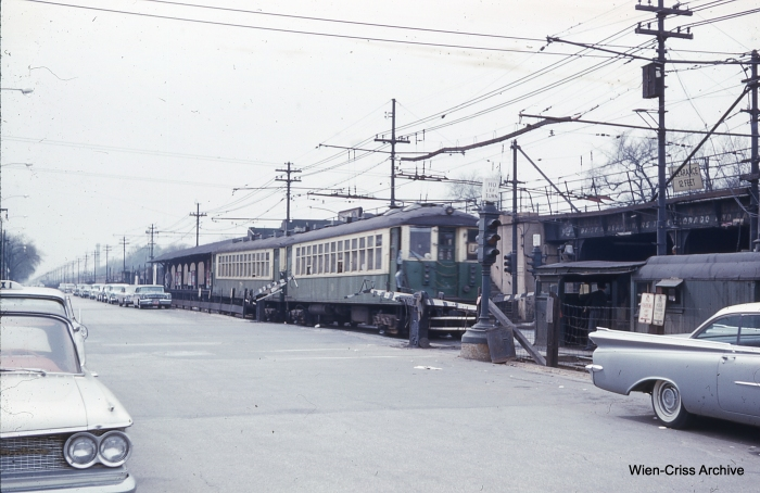 CTA 4388 at Central on May 7, 1961. (Photo by Charles L. Tauscher, Wien-Criss Archive)