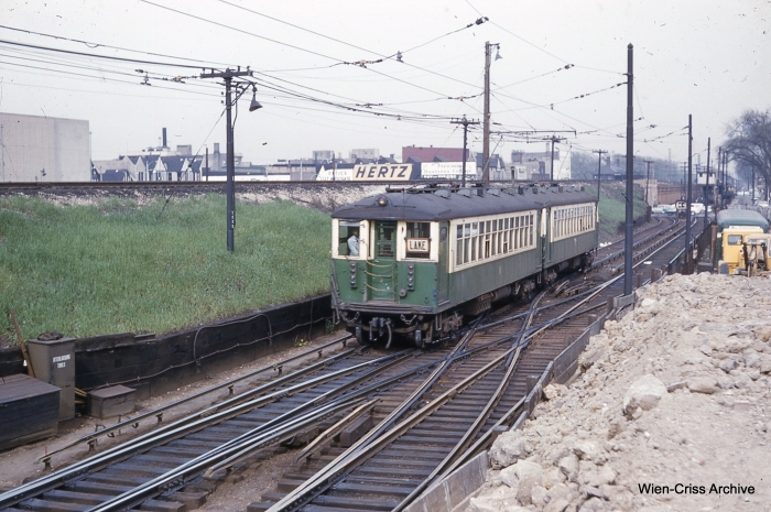 CTA 4388 in Forest Park on May 7, 1961. (Photo by Charles L. Tauscher, Wien-Criss Archive)