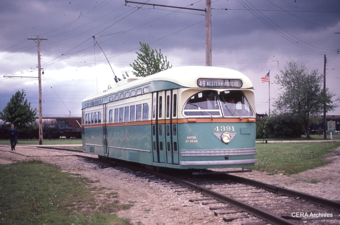 CSL/CTA 4391 at the Illinois Railway Museum in the mid-1980s. (Photo by David Sadowski)