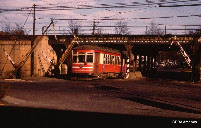 CTA 1751 at Lake and Pine in the early 1950s. (Unknown Photographer)