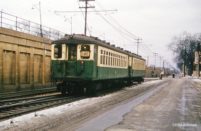"""""""Side of the road"""" rapid transit operation in January 1961. (Photographer unknown)"""