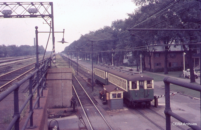 CTA 4388-4387 in Oak Park on September 3, 1961. (Photographer Unknown)