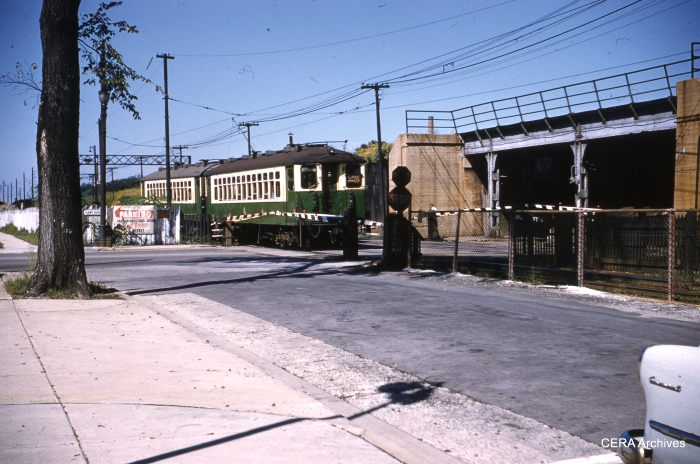 West of Harlem in Forest Park on September 6, 1961, before the embankment was expanded to create a yard and shops. (Photographer Unknown)