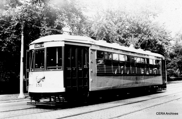 Car 151 on Lake Street. (Photographer Unknown)