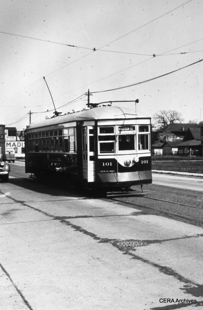 Car 101 on the Madison St. line. (Photographer Unknown)