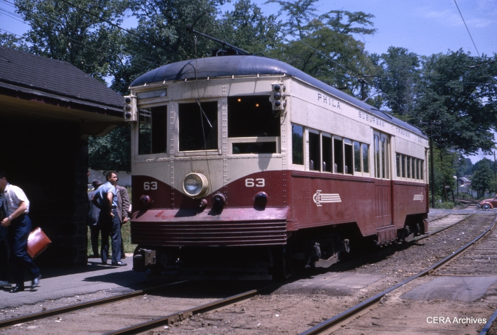 PSTCo 63 at Ardmore Junction on May 30, 1964. (Photo by Charles W. Houser, Sr.)