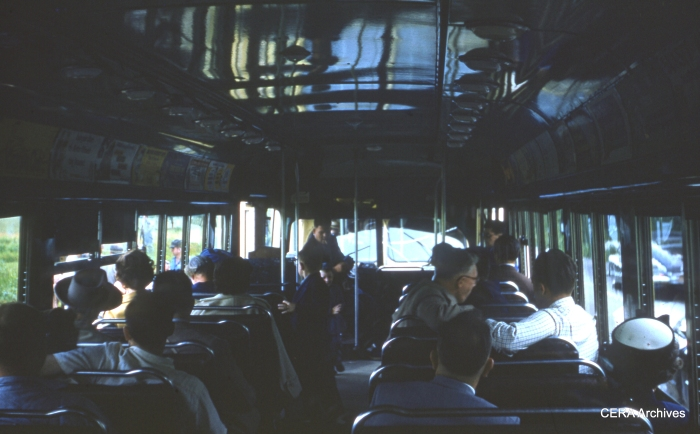 Inside a Red Arrow car in the 1950s. (Photographer unknown)