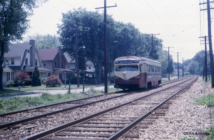 PSTCo 11 on the Ardmore line on June 1, 1965. (Photographer unknown)