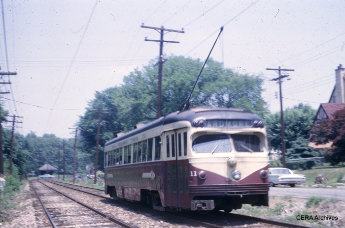 PSTCo 11 on the Ardmore branch on June 1, 1965. (Photographer unknown)