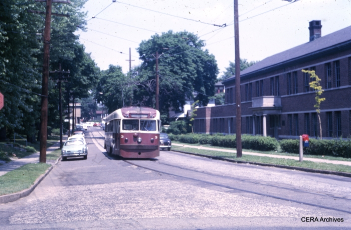 PSTCo 3 street running on Lipincott Street on June 1, 1965. (Photographer unknown)