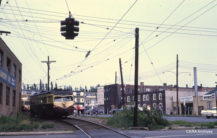 PSTCo 12 at Ardmore Terminal on August 6, 1960. (Photographer unknown)