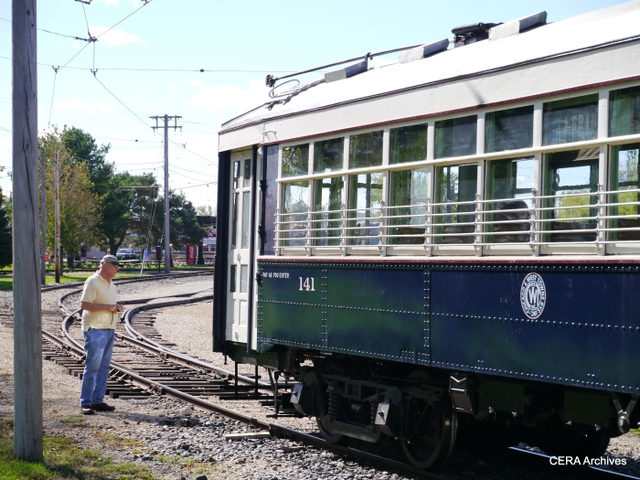 West Towns car 141 has been lovingly restored and is now operational again, for the first time since it last ran in 1948. (Photo by David Sadowski)