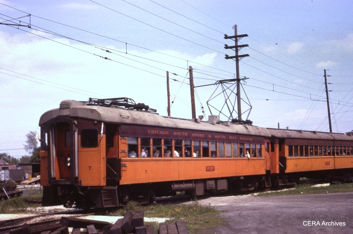 Cars 7 and 212 in west South Bend on May 24, 1963. (Photographer Unknown)
