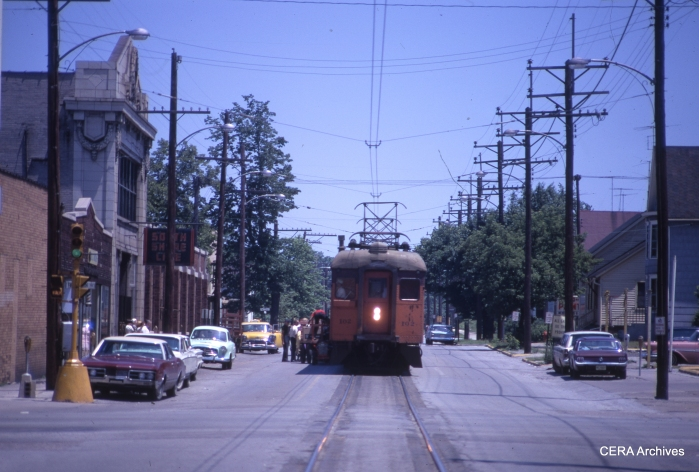 #102 at the Michigan City station in June 1967. (Photographer Unknown)
