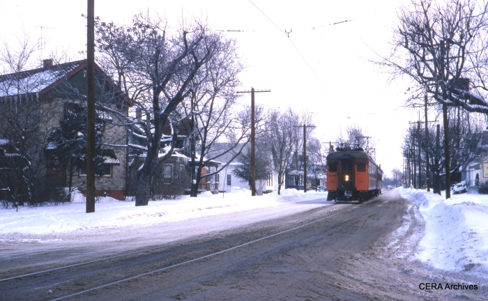Michigan City street running in January 1970. (Photographer Unknown)