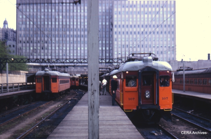At the south end of the Randolph St. station in 1970. (Photographer Unknown)
