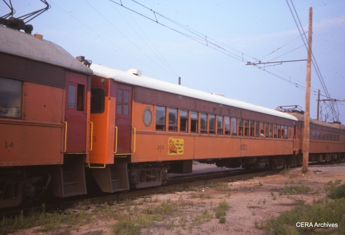 #203 (built by Pullman in 1927) in July 1976. (Photographer Unknown)