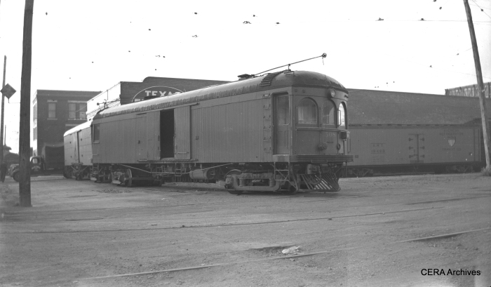 Texas Electric freight motor 508 in Dallas in 1941. (Photographer unknown)