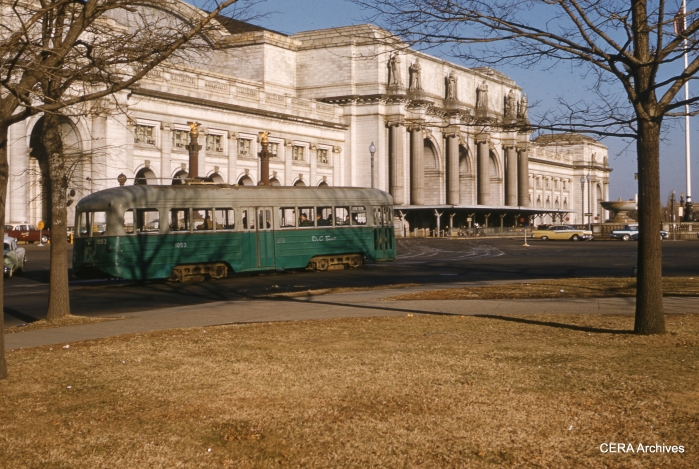 DC Transit 1053 at Union Station on January 14, 1962. (Photographer unknown)