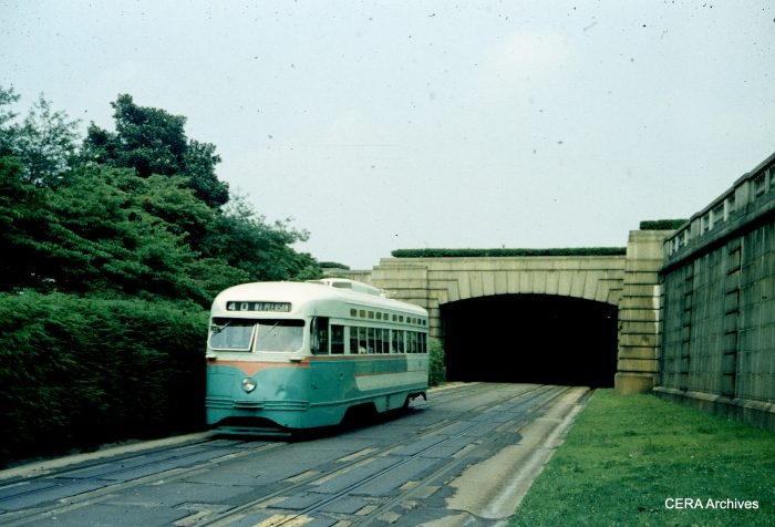 PCC 1521 on the #40 line in September 1959. (Photographer unknown)