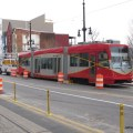The first streetcar to roll on tracks in Washington in over 50 years on H Street between 3rd & 4th Streets, NE, near the western terminal of H Street line (December 14, 2013). (Photo by Jeffrey Mora)