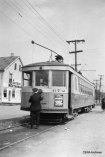 Our post The Preservation Movement in Early Days, Part 2 (April 22, 2013) included this photo, which says it shows the last Dayton trolley on September 28, 1947. (Photographer unknown)