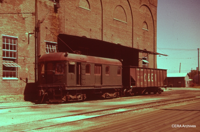 One of the three ex-IT Illinois Power Company locos in Champaign on September 8, 1958. (Charles L. Tauscher Photo - CERA Archives)