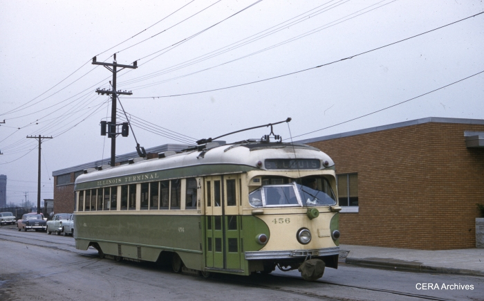 IT 456 in Venice, Illinois on April 28, 1958. (Photographer unknown - CERA Archives)